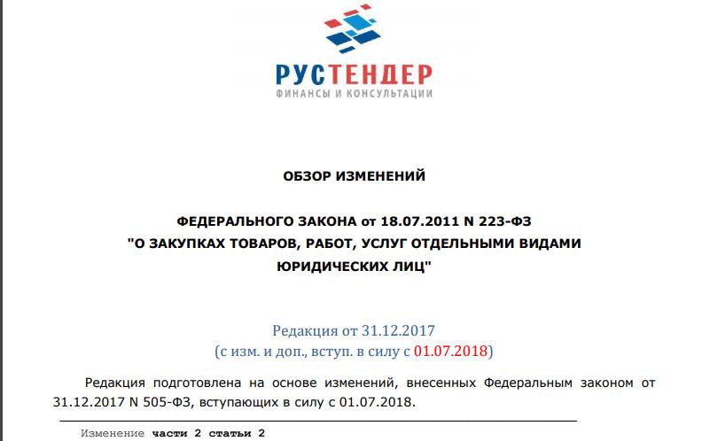 Требования к информационному обеспечению закупок проводимых отдельными юрлицами по ст 4 223-ФЗ